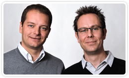 Jo Vandesompele and Jan Hellemans, Cofounders of BioGazelle, the validation team for PrimePCR assays
