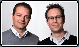 Jo Vandesompele and Jan Hellemans, Cofounders of BioGazelle, the validation team for PrimePCR assays