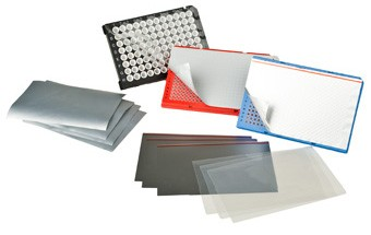 Images of heat sealing films for PCR microplates