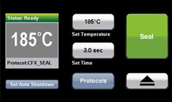 Screen shot of the high-resolution touch screen for personalizing heat sealing conditions