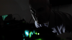 Dan Fox reviewing lasers on the S3 cell sorter