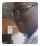 Portrait of Dr Frederick Bauzon, a postdoctoral researcher at the Children's Hospital Oakland Research Institute (CHORI)