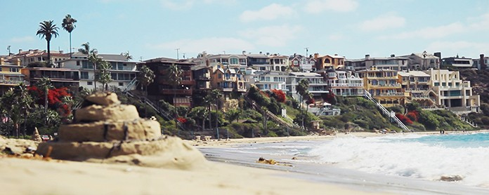 Photo of Corona Del Mar beach, whose water is tested using ddPCR technology for safety