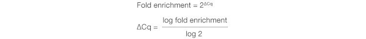Fold Enrichment Equation 2