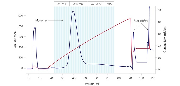 Fig. 2B. mAb G purification profile.