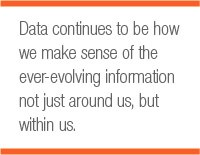 Data continues to be how we make sense of the ever-evolving information not just around us, but within us.