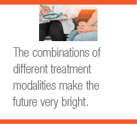 The combinations of different treatment modalities make the future very bright.