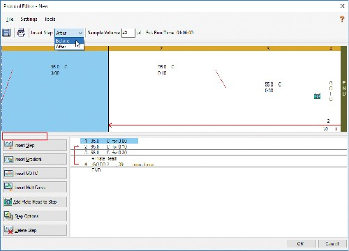 3.2 In Protocol Editor, select Before in the Insert Step dropdown menu and select Insert Melt Curve.
